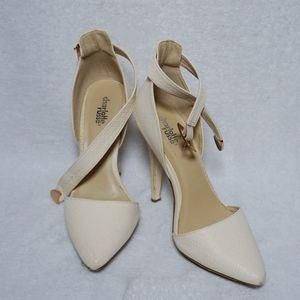 White Patterned Heel - Charlotte Russe